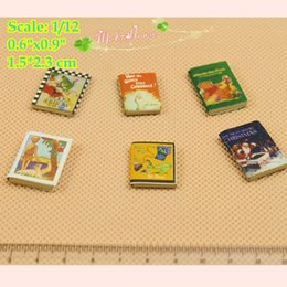 Wholesale Deco Kids - 1 12 Scale Dollhouse Miniatures Books for Kids Room Dummy Books; Doll House Deco Dollhouse accessory Doll Houses Children's Room Decoration