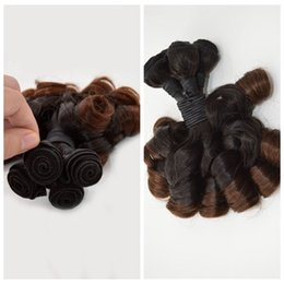 Wholesale Bouncy Curls - G-EASY Ombre Hair Extensions Cheap Brazilian Funmi Hair 3 Pcs Aunty Funmi Ombre Colored Bouncy Curl Hair Weaving