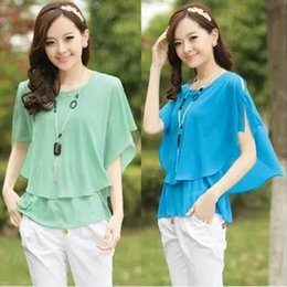 Wholesale Bow Blouse Xxl - Available colors: summer new loose-fitting fashion chiffon slim woman with a back bow blouse shirt, 5 colors, s m, l xl, XXL