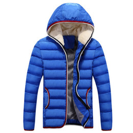 Wholesale Large Size Down Coats - New Arrival Wholesale Men Winter Jacket Warm White Duck Down Zippers Jackets Coats Parka With Hoodie Large Sizes