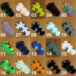 Wholesale Wholesale Boat Shoes - New Short Thick Style Boat Socks Ladies Brand Cotton Athletic Sport Shoes Basketball Sock Maple Leaves Socks 2pcs pair CCA7578 200pair