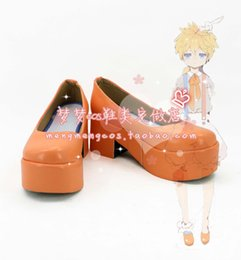 Wholesale Vocaloid Kagamine Len - Wholesale-Vocaloid Kagamine Rin Len LEN lost rabbit Cosplay Boots shoes shoe boot #AT94 Halloween