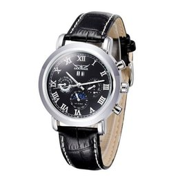 Wholesale Pin Marker - JARAGAR Man Wristwatch Automatic Mechanical Watch Self-winding Analog with Roman Hour Markers Calendar Moonphase