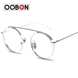b57b183655b Wholesale- OOBON 2017 High Quality Round Glasses Frame Vintage Women  Optical Eyeglasses Clear Lens Retro Classic Glasses Eyewear Men oculos