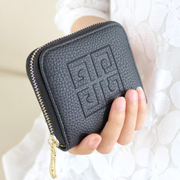Wholesale Korean Girl Dress Fashion - New arrival Fashion Women Coin Purses Ladies Girls Zipper pu Leather Purse Wallet Money Card Holder Coin Bag