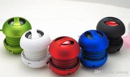 Wholesale Sound Speaker Mp3 Usb Notebook - Hot sales X-Mini speaker MP3 smart phone portable notebook sound hamburger mini speaker DHL free shipping