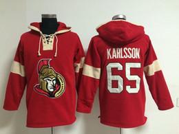 Wholesale Ottawa Hockey - Youth Hockey Jersey Cheap, Ottawa Senator Hoodie 19 Jason Spezza 65 Erik Karlsson Kids 100% Stitched Embroidery Logos Hoodies Sweatshirts