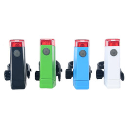 Wholesale Green Laser Safety - New Bicycle Cycling Laser Tail Light LED Adjustable Rear Light Bike Safety Warning Lamp Bicycle Accessories Black Blue Green White