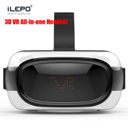 Wholesale Dhl Virtual Video Glasses - Android 5.1 System VR BOX All in one Bluetooth Headset Google Virtual Reality TV 3D Glasses Wireless 2.4G Wifi 360 Video Glasses DHL