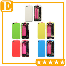 Wholesale iphone 5c back case - OEM For Apple iphone 5C Back Battery Door Cover Case Middle mid Frame with parts Full Housing Assembly Replacement Parts 1Pcs Lot