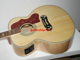 Wholesale Guitar Wood Types - high-ranking Custom Shop Natural 200 Acoustic electric guitar with FSM High Cheap OEM Musical instruments