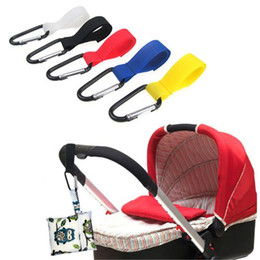 Wholesale baby clip hangers - Multi Purpose baby stroller hanger Hook Clips kid infant Pushchair Strong hanger hooks Toddler Stroller Accessory kid378