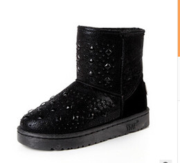 Wholesale Black Diamond Ankle Boots - HOT! New Winter Boots 2016 Explosion Models Snow Boots  Diamond Fashion Snow Boots  Warm waterproof Boots 1009