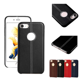 Wholesale Stitch Phone Cases - For Red iphone 7 7 plus Leather soft case leather stitching with metal ring case TPU Cell phone Cases US2