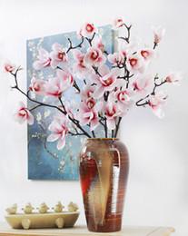 Wholesale Artificial Azaleas - 95cm artificial azaleas magnolia real touch silicon flower