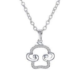 Wholesale Embellished Necklaces - Adorable Small 3D Silver Tone Monkey Charm Pendant Necklace Embellished with Sparkling Crystals Pendant Chain Length 17 inch GCSP151114