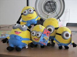 """Wholesale Despicable Minion Dave Plush - Despicable ME Toy Movie Plush Toys 6"""" 23cm Minion Jorge 3D eyes Stewart Dave NWT with tags Free shipping"""
