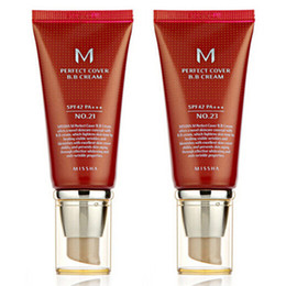 Wholesale Skin Cover Bb Cream - Hot sales New Makeup M Perfect Cover BB Cream SPF42 BB CC Creams #21 And #23
