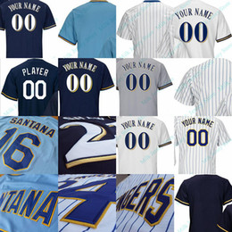 Wholesale Hank Aaron Baseball - Milwaukee Throwback Jersey Bud Selig Paul Molitor Cecil Cooper Robin Yount Hank Aaron Bob Uecker Prince Fielder Rollie Fingers