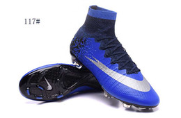 Wholesale Long Black Shoes For Men - American football shoes mens leather soccer boots long spike fg foorball shoes for man boy trainers soccer cleats outdoor football boots