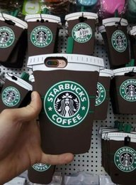 Wholesale Iphone 4s Cases Skins - 3D Starbucks Coffee Soft Silicone GEL Case For Iphone 7 Plus 6 6S SE 5 5S 4 4G 4S Samsung Galaxy S7 EDGE J1 A310 A510 Cup Cartoon Skin Cover