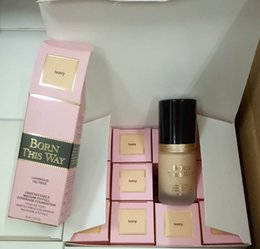 Wholesale Normal Water - NEW Two Faced Makeup Born This Way COVERAGE Foundation Liquid 3 colors Long Lasting Foundation 30ML