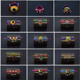 bracelet à fleurs style Promotion Styles nationaux Bijoux tissu art bracelet Mme Bell fleurs tissés à la main tissage Restauration anciennes façons caractéristiques originales Bracelets Bracelets 3029