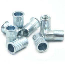Wholesale Threaded Inserts Wholesale - Wholesale- 50pcs M3 Rivet Nut Normal Head Nutserts Blind Insert Rivnut Steel Threaded Multi
