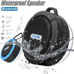 Wholesale Music Cup - C6 Speaker Bluetooth Speaker Wireless Audio Player Waterproof Speaker With Hook And Suction Cup Stereo Music Player With Retail Package