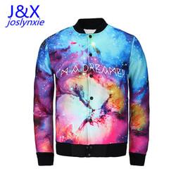 Wholesale Galaxy S I - Fall-2015 Newest design women men jacket 3d print I AM DREAMER graphic coat winter mens harajuku galaxy jacket tops