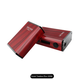Wholesale Max Power Battery Ship - 100% Authentic SMOK Treebox Plus TC MOD 220W Max Output Powered by Two 18650 Batteries fast shipping factory wholesale