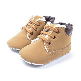 Wholesale Warm Boots For Kids - 2016 Winter Baby Shoes Baby Warm Boot Kid Boy Winter Warm Plush Boots For 0~18 M Baby