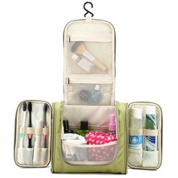 Wholesale Hanging Makeup Case - Wholesale- Women's Men's Cosmetic Toiletry Organization Beauty Makeup Towel Storage Bags Box Case Outdoor Travel Overnight essentials items