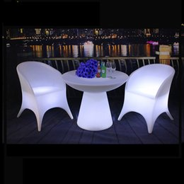 Wholesale Remote Colors - waterproof IP65 16 colors changing led lighting plastic material patio outdoor furniture type garden sets with remote control