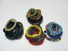 Wholesale Cheap Ceramic Balls - Shamballa Crystal 20 Beads Bracelets Disco Ball shiny Bracelets Jewelry Armband Cheap China Fashion Jewelry wrap charm bracelets 25pcs