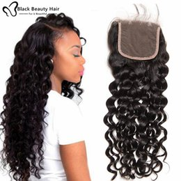 Wholesale curl cambodian hair - Brazilian Virgin Human Hair Lace Closures Peruvian Malaysian Indian Cambodian Mongolian Body Wave Straight Loose Deep Jerry Curl Closures