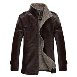 Wholesale Mens Single Breasted Leather Jacket - PU Leather jacket men motorcycle mens leather jackets and coats chaqueta cuero hombre jaqueta de couro masculina brand clothing