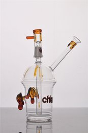 Wholesale Concentrate Glass - HITAMN CHEECH Glass Bong Concentrate Oil rigs Dabber Bubber Water Pipe With Dome Nail