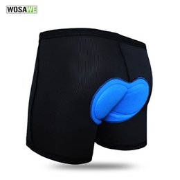 2017 cojín almohadillado para ciclismo WOSAWE Summer Bike Shorts Riding Bicycle Cycling Underwear Mens Shortpant Respirable Gel 3D Silicon Padded Cushion Underpants cojín almohadillado para ciclismo oferta
