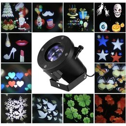 Wholesale Holiday Change - led wall decoration laser light LED RGB colour 12 pattern card change lamp Projector Showers led laser light for holiday