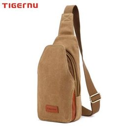 Wholesale Korean Version Canvas Backpack - Tigernu Authentic Backpack Men's chest pockets bag canvas messenger bag Korean version of casual men's summer small man bag chest pack