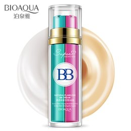 Wholesale Naked Skin Bb Cream - BIOAQUA 2 In 1 Base Makeup BB Cream concealer Liquid Foundation Make Up Flawless Maquiagem Whitening Cosmetic Corrector Naked Makeup In Stoc