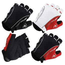 Wholesale Anti Finger - Cycling Gloves Half Finger GEL Pad Bicycle Gloves Non-slip Anti-skid Soft Breathable Lycra Guantes Ciclismo Sports Mountain Bike Gloves