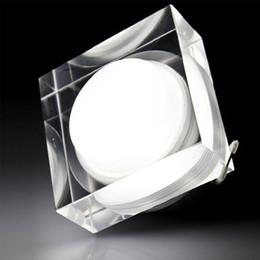 2019 cuadrado luz de techo 1w Crystal Square Led Downlights 1W 3W 5W 7W LED Downlight AC85-265V Lámparas de Techo Lámpara de techo Inicio iluminación interior envío gratis rebajas cuadrado luz de techo 1w