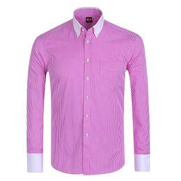 Wholesale Mens Long Sleeve Button Shirt - Wholesale-Special Offer   Summer 2016 Mens Long Sleeve Button Down Pinpoint-Stripe Dress Shirt Classic-fit Comfort Soft Formal Shirts
