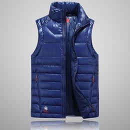 Wholesale Men Fashion Luxury Vest - Luxury brand Men winter down vest Northfaces feather weskit jackets mens casual vests mens down coat size:S-2XL