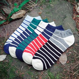 Wholesale Ped Socks Men - High Quality Mix Color Striped Low Cut Ped Socks Casual Comfortable and Breathable Men Socks Wholesale Fashion Socks