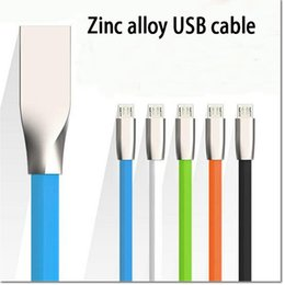 Wholesale White I5 - high quality zinc alloy usb sync data cable micro usb data cable for samsung s6 s7 huawei HTC LG vs cable for i5 i6
