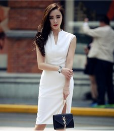 Wholesale Short White Elegant Cheongsam - The new party package buttocks short improved cheongsam elegant girl summer party dress little black dress