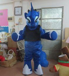 Wholesale Mini Little Ponies - with mini fan inside the head my little pony mascot costume adult blue pony mascot costume for party